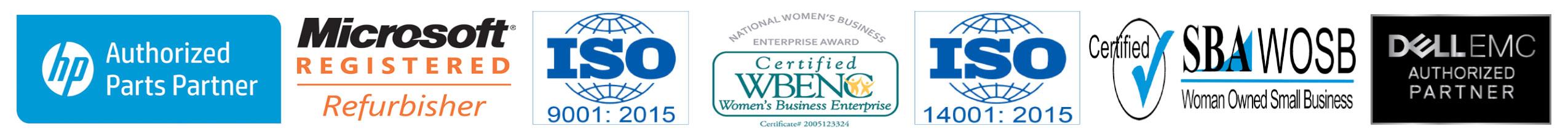 2020 Big Blue Products Certification Badges Header