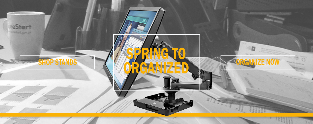 Spring to Get Organized with HP Monitor Stands from Big Blue Products